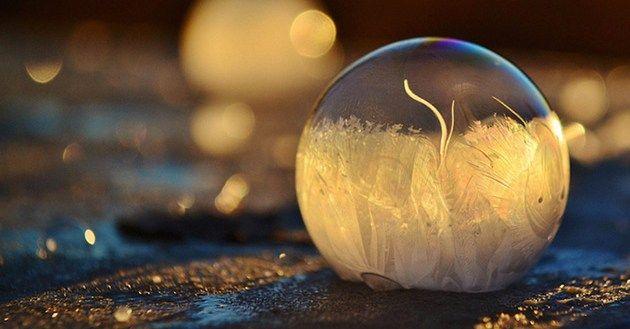 Breathtaking Frozen Bubbles Look Like Elegant Glass Ornaments