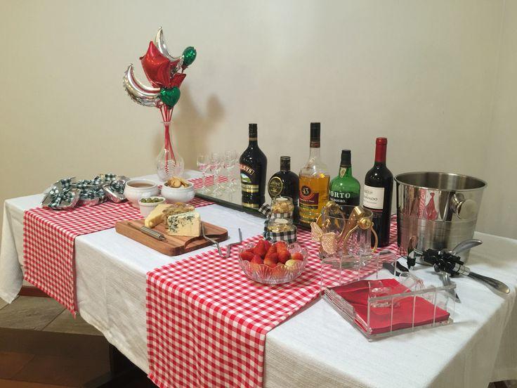 Decoração Italiana mesa das bebidas