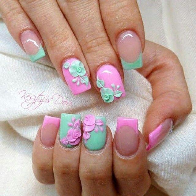 Best 25 3d acrylic nails ideas on pinterest 3d nail art for 3d acrylic nail art decoration