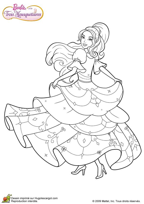 Barbie coloring page.194