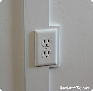 Board and Batten Outlet tutorial - cool outlet trick!