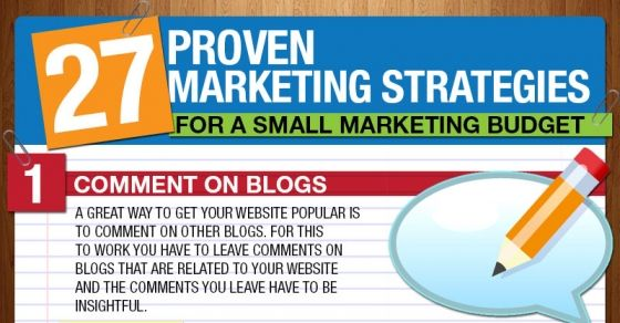 Here are 27 Proven Marketing Strategies that you can start implementing today to get more traffic. All of these methods work and have been tested with real