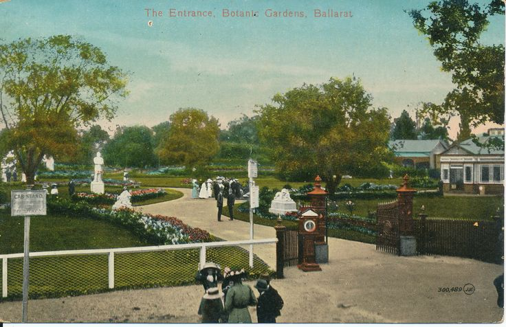 #PostcardThursdays The entrance to the Botanic Gardens, Ballarat c1910 #loveballarat #history #besemerescollection #goldmuseum