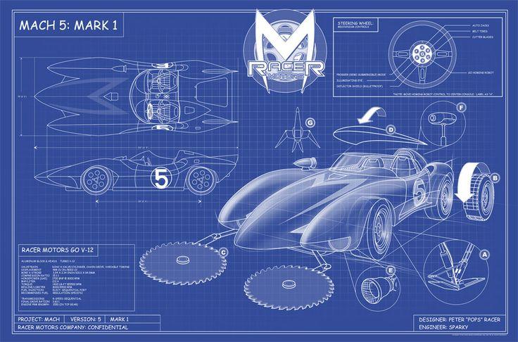 Mach 5 Mark 1 Blueprints