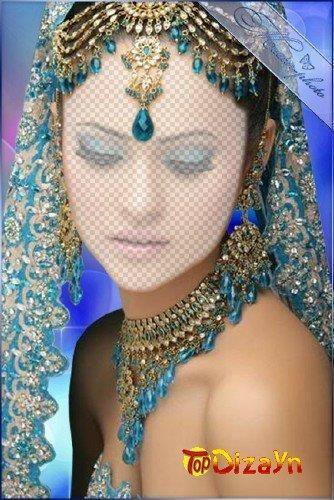 Женские индийские костюмы для монтажа в фотошоп