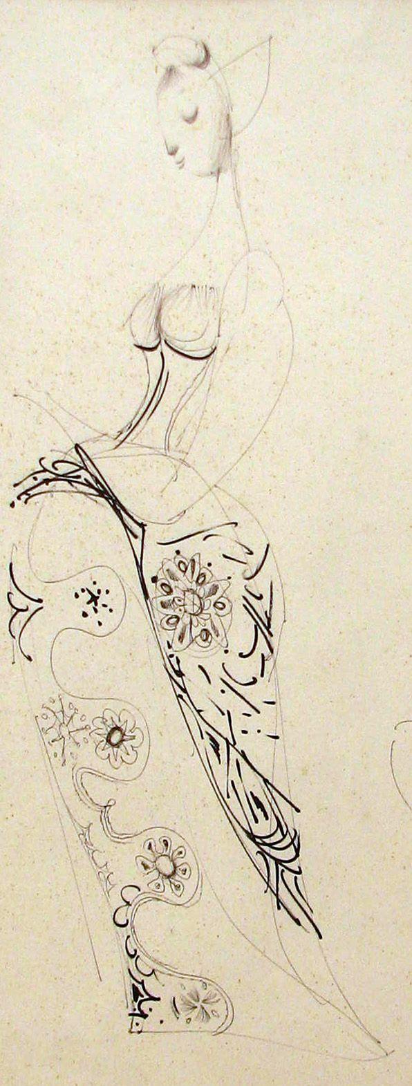 Trnka Jiří (1912 - 1969) : Kresba k filmu Archanděl Gabriel a paní Husa