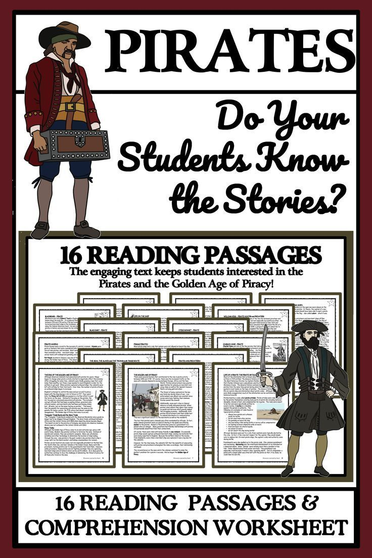 Pirates And Privateers Reading Passages Comprehension Questions Reading Passages High Interest Reading Passages Comprehension Questions [ 1104 x 736 Pixel ]