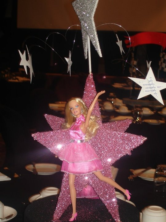 Barbie centerpiece for the Make a Wish Foundation