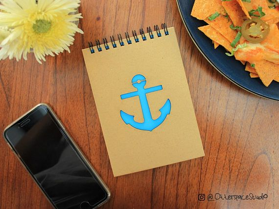 Anchor Notebook  Voyage Spiral Notepad  Travel Hardcover