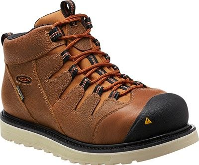 The Glendale has the good looks of a wedge work boot and the unbeatable comfort of a KEEN. It's fully waterproof, and the asymmetrical steel-toe design keep you safe on the job site.  | Glendale WP for Men | KEEN Footwear