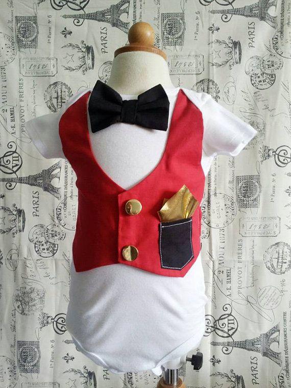Circus Ringmaster outfit onesies. Birthdays by LittleGrayandCo