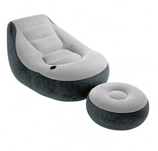 The Intex Inflatable Ultra Lounge Chair Is Perfect For Reading Or Relaxing In Sun On