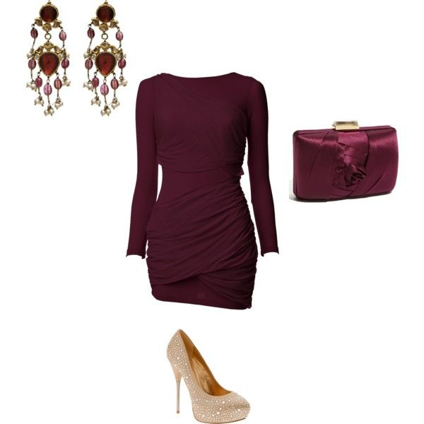 burgundyDates Night Outfit, Holiday Parties, Dresses Outfit, Clothing Accessories, Holiday Outfit, Date Nights, Awesome Outfit, Clueless Closets, Date Night Outfits