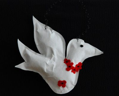 "How to make a Peace Dove--Remembrance day art activity from ""that artist woman"" blog"