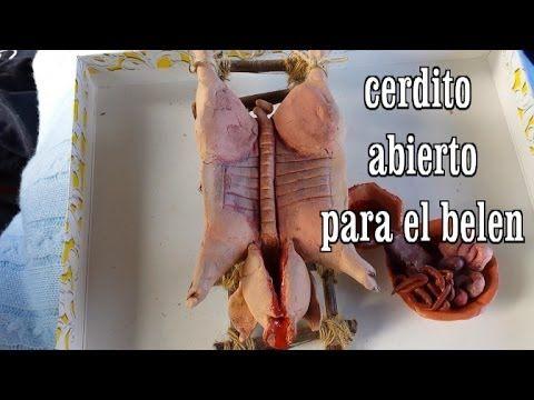 DIY CERDITO ABIERTO PARA EL BELEN (+lista de reproducción)