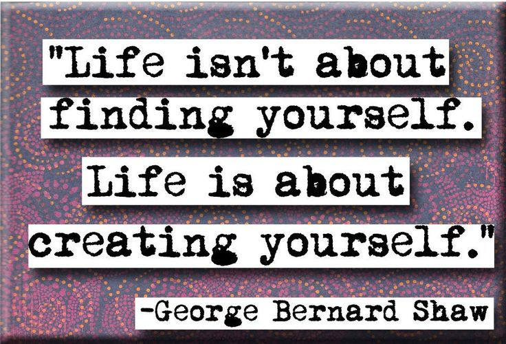 George Bernard Shaw Life Quote Magnet or Pocket Mirror (no.106)