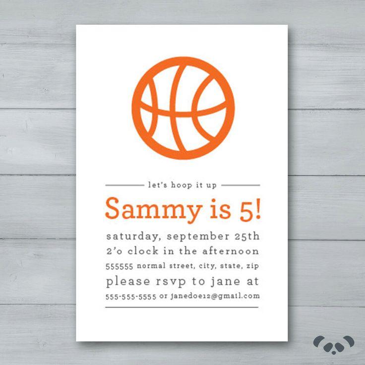 Basketball Birthday Party Invitation  |  Basketball Invite  |  Basketball Birthday Invite by PandafunkCreations on Etsy https://www.etsy.com/listing/250933174/basketball-birthday-party-invitation