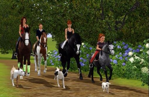 The team riders (With Susan cousin on a little pony)