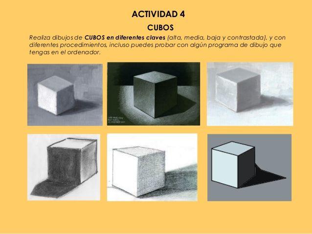 Resultado De Imagen Para Luz Frontal Cubo Luz Y Sombra Ejercicios De Dibujo Luces