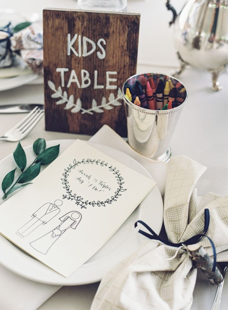 #children, #signs, #kids-table Photography: Natalie Watson - nataliewatsonphotography.com Venue: Sundara - mysundara.com/