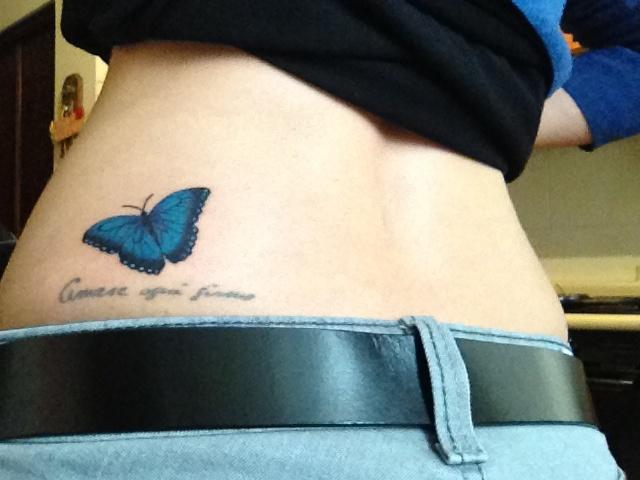 Blue morpho butterfly tattoo - photo#2