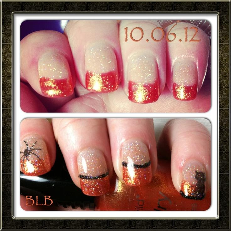 Halloween themed nail art   Acrylic Nails   Pinterest