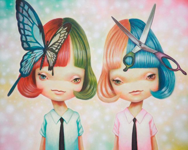 Pop Surrealism Art | Japanese Pop Surrealism Paintings by Yosuke Ueno « Art Installations ...