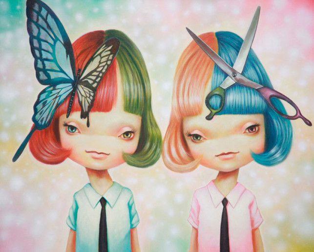 Pop Surrealism Art   Japanese Pop Surrealism Paintings by Yosuke Ueno « Art Installations ...