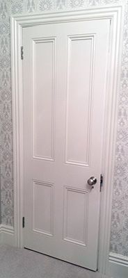 Victorian door that's good for the kitchen or cellar doors
