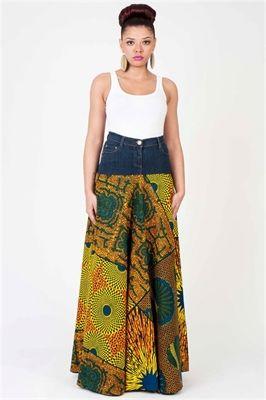 Picture of Sunsplash Denim Maxi Skirt
