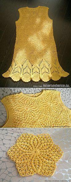 Crochet dress PATTERN, crochet wedding dress, crochet party dress PATTERN…