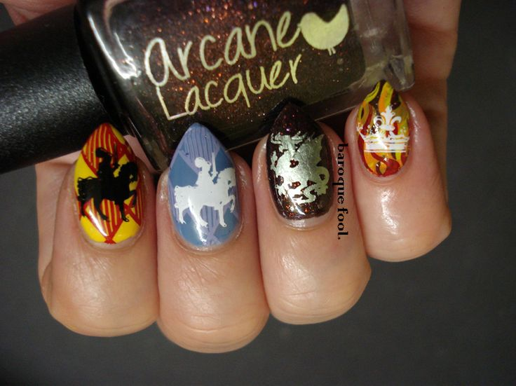 710 best my talon art images on pinterest html nail arts and art nail art inspired by the tv show galavant prinsesfo Gallery