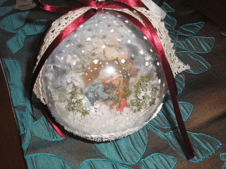 #decoupage #christmas #ornament #Stella #bombki #ντεκουπάζ #μπάλα