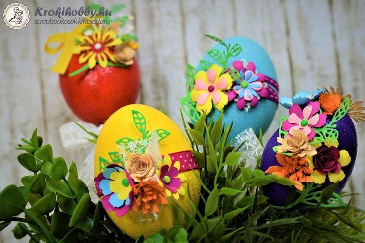 Mi egyre inkább a húsvétra hangolódunk.  Ezúttal hungarocell tojásokból készítettünk húsvéti dekorációt.