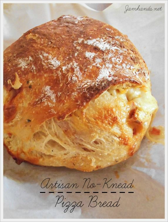 Artisan No-Knead Pizza Bread at www.jamhands.net