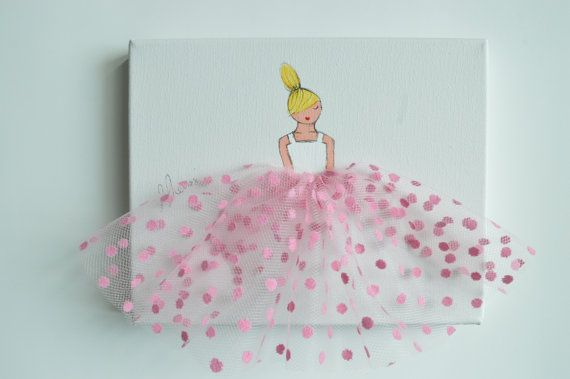Little Princess in Pink Polkadot Tulle hand by ShenasiConcept