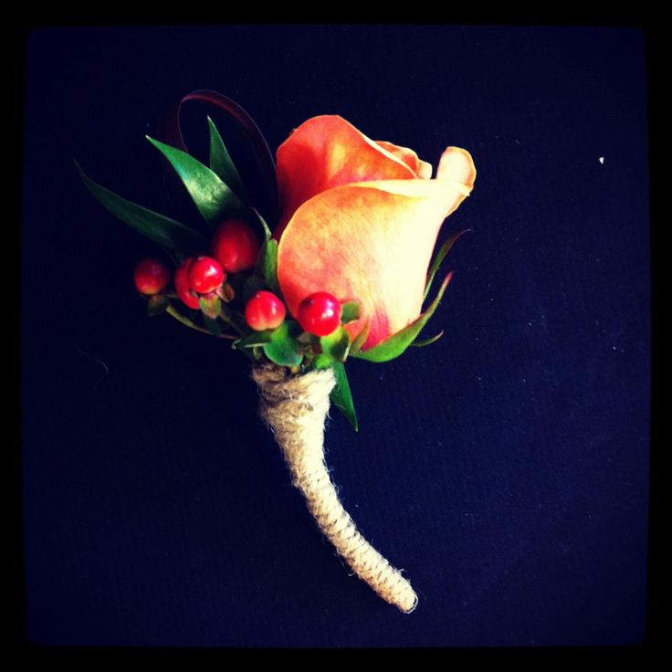 Autumnal themed buttonhole