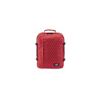 Cabin Zero Classic -- Cabin Zero's Classic 44L cabin bag is available in a fun, limited edition red polka dot pattern. Designed as an all you'll need travel backpack, with airline size dimensions suitable for most carry-on hand luggage, and a good general size for the minimalist, take your luggage everywhere type adventure traveller. It also features Okaban's global luggage tracker and comes with a standard 10-year Warranty.