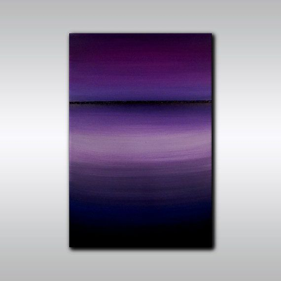 24 x 36 Amethyst Abstract Horizon Painting by ColourInMotionStudio, $225.00