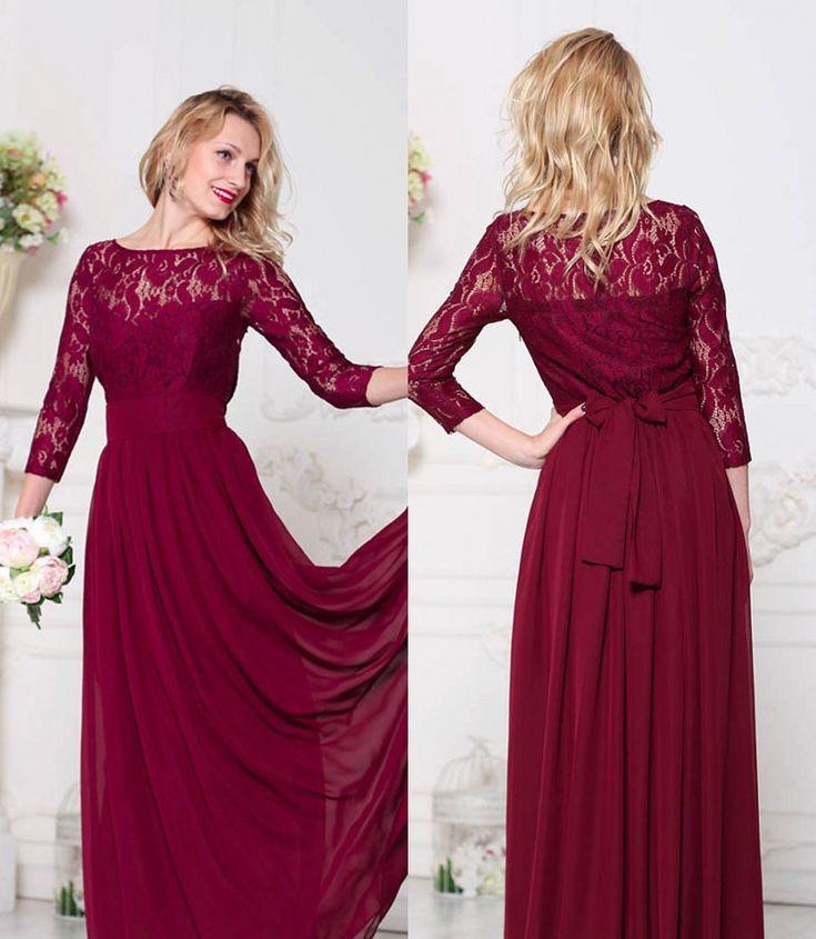 Best 25 Dark Red Bridesmaid Dresses Ideas On Pinterest