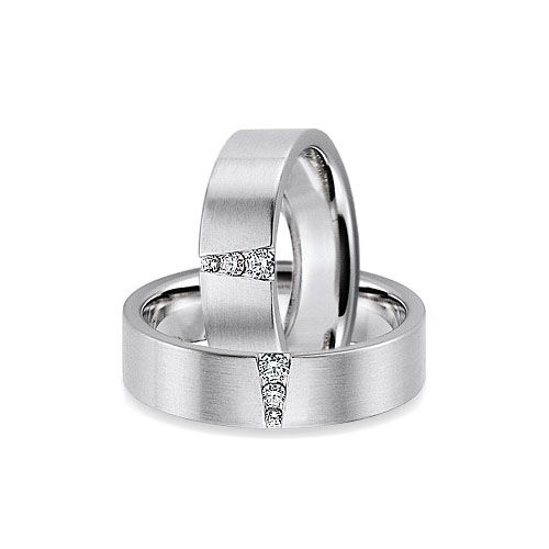 Contemporary 6mm Flat Engagement Ring with Three Diamonds - http://www.wooltonandhewitt.co.uk/gay-lesbian-engagement-rings/whg72026606.htm