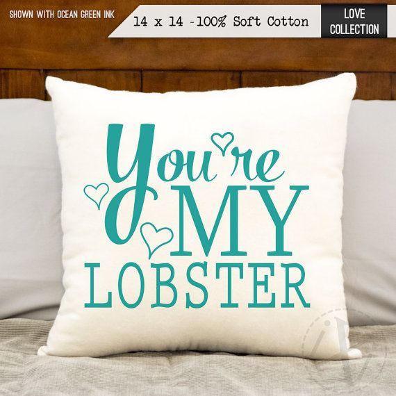 2nd Anniversary Cotton Gift You're My Lobster Two by iXiDesign