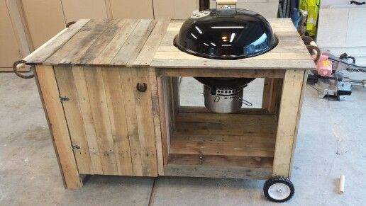 Weber Grill Cart Out Of Pallets Projects Grill Station