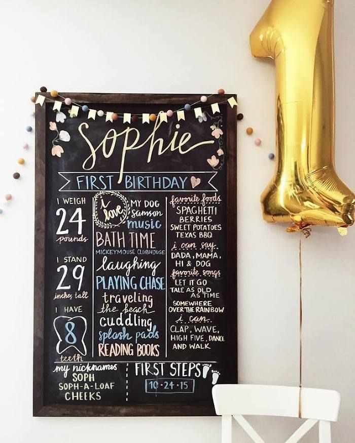 Classic Winnie The Pooh Party First Birthday Chalkboard - Megan Ella » Houston area lifestyle + wedding photographer