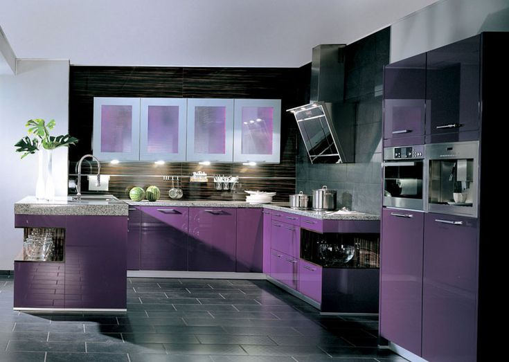 Purple Kitchen Cabinets   Ben Would Kill Me :P