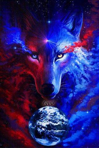 I hold the power to see all spirit guides wolf - Cool animal wallpaper light ...