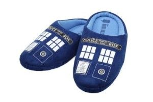 Awesome 21st Birthday Guys: Doctor Who Mens TARDIS Plush Slippers