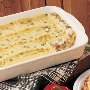 White Sauce Lasagna Recipe - An old favorite of ours that I'm going to tweak to work for our current diet and available ingredients.