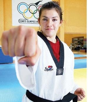 María Espinoza . . . Mexican * . . . tae kwon do