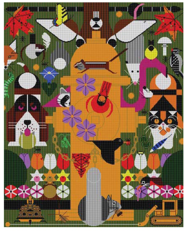 It's not your Grandmother's Needlepoint: New from Charley Harper!Actually Canvases, Charlie Harpers, Grandmother'S Needlepoint, Burb Price, 1520 York, Needlepoint Canvases, The Burb, Charley Harpers, Burb Originals